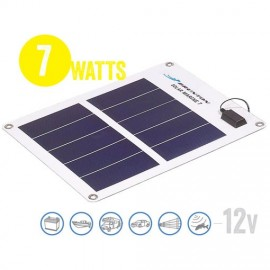 Panel Solar Flexible A Prueba De Agua Solar Marine 7 Watt, 12V