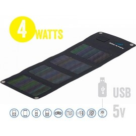 Panel Solar Plegable Solaris Usb 4 Watt, 5V Cigs